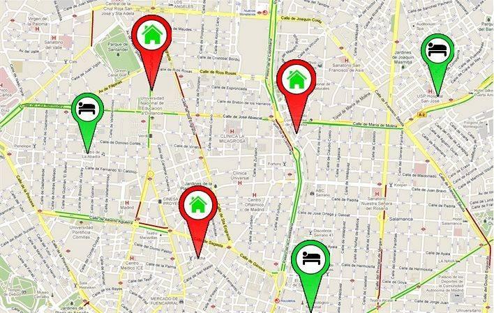 UB Mapa alojamientos